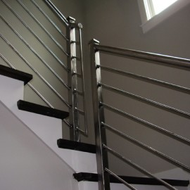 Polished Steel Railing