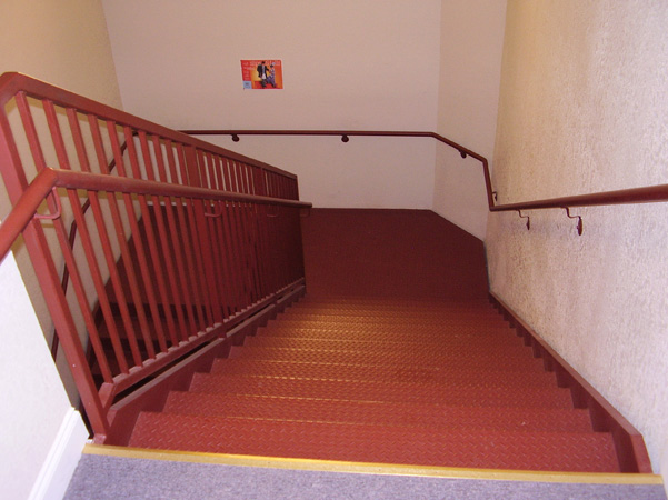 Interior stairs and landing